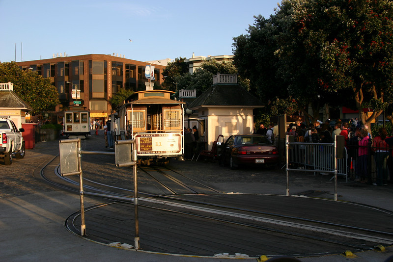Cable car turnaround at Fisherman's Wharf.