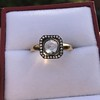 .53ctw Rose Cut Halo Ring, by Single Stone 25