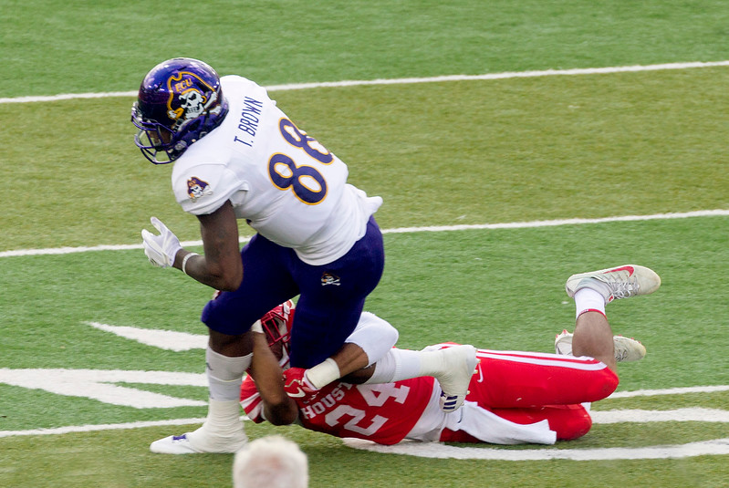 ECU's Brown receives for 4 yards.