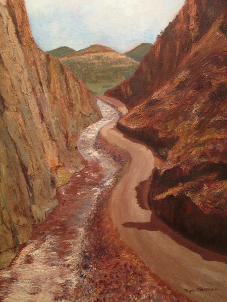 Big Thompson Canyon, Colorado (Oil).JPG