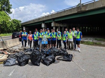 6.6.19 North Hammonds Ferry Cleanup with CohnReznick