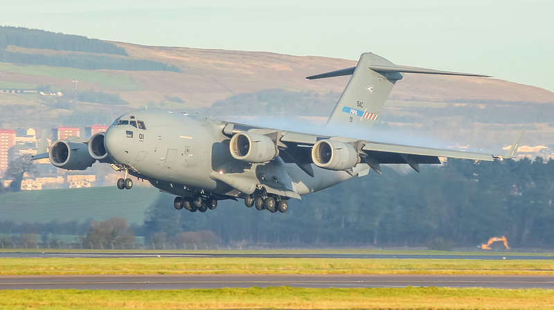 01 Boeing C17 Hungarian Air Force @ Glasgow Airport (EGPF)