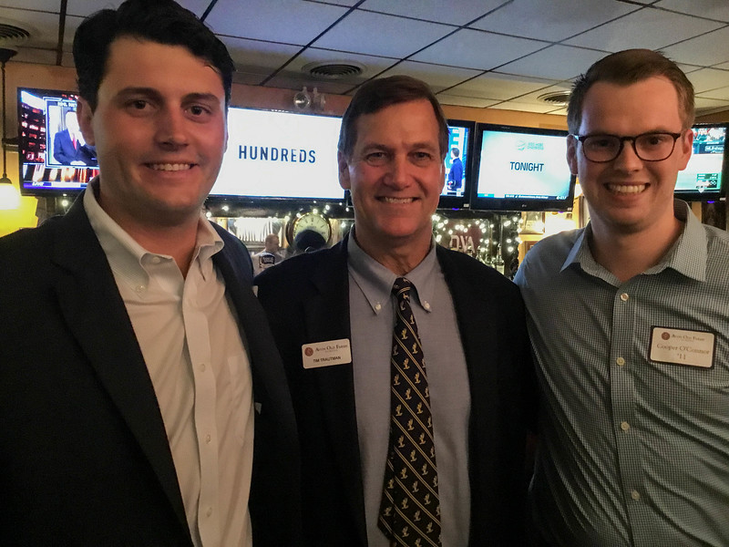 Richard Woodwell '08, Tim Trautman '75, P'03, and Cooper O'Connor '11