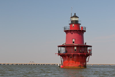 Newport News Middle Ground Lighthouse, Virginia. First put into service in 1891. © 2020 Kenneth R Sheide