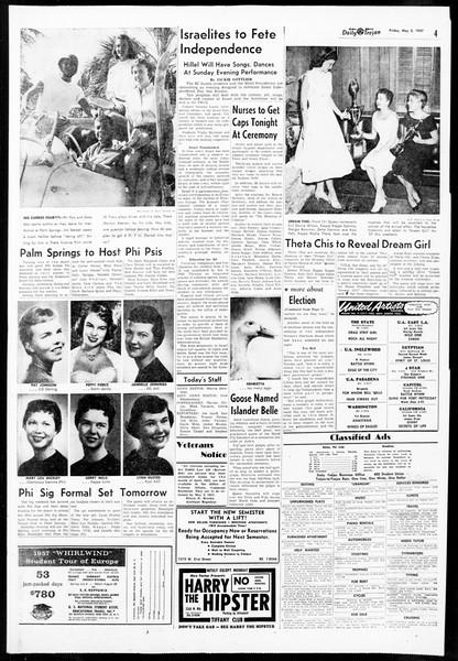 Daily Trojan, Vol. 48, No. 123, May 03, 1957
