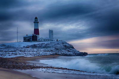 Montauk on a snowy day