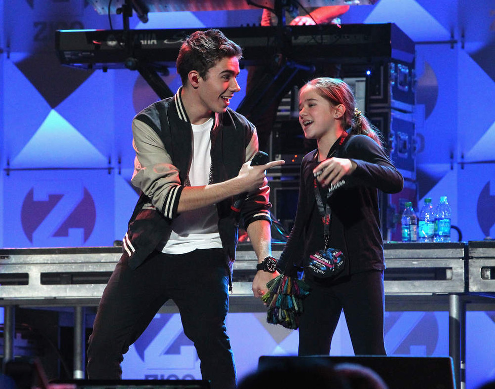 . Nathan Sykes of The Wanted performs onstage during Z100\'s Jingle Ball 2012, presented by Aeropostale, at Madison Square Garden on December 7, 2012 in New York City.  (Photo by Kevin Kane/Getty Images for Jingle Ball 2012)