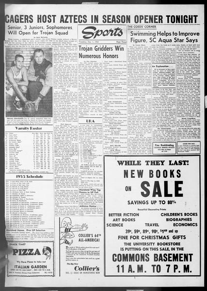 Daily Trojan, Vol. 45, No. 49, December 01, 1953