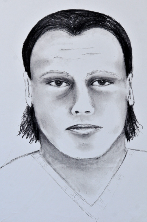 . (John Valenzuela/Staff Photographer)  Redlands Police released a composite sketch of the murder suspect in the Sylvia Flores homicide case. Flores was a 23-year-old woman from Perris, CA. who\'s body was found in a orange groves near Citrus Plaza shopping center in Redlands.
