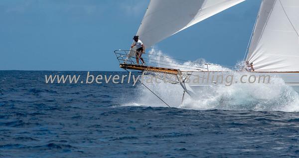 EROS under sail