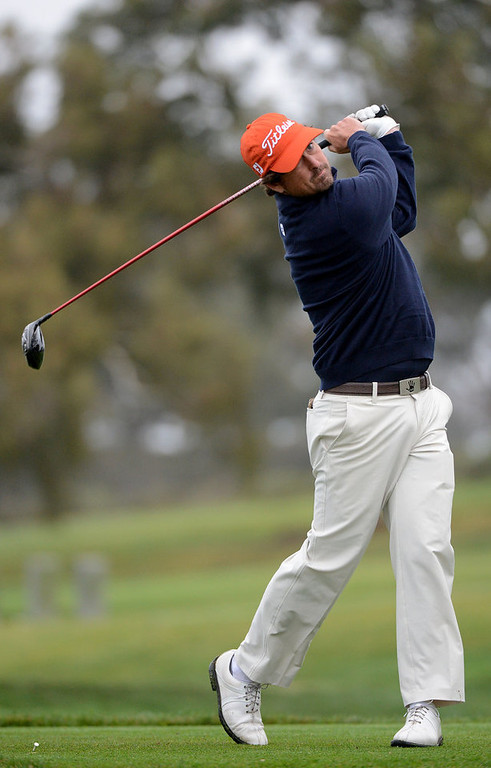 . Will Claxton hits off the tee box during the Third Round at the Farmers Insurance Open at Torrey Pines South Golf Course on January 27, 2013 in La Jolla, California. (Photo by Donald Miralle/Getty Images)