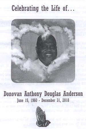 Donovan Anthony Douglas Anderson 1960-2018