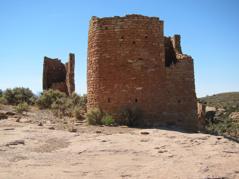 This style of construction very unusual for these people who usually built in the Mesa Verde style.