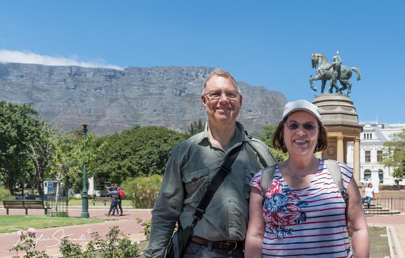 Doug & Louise with Table Mountain