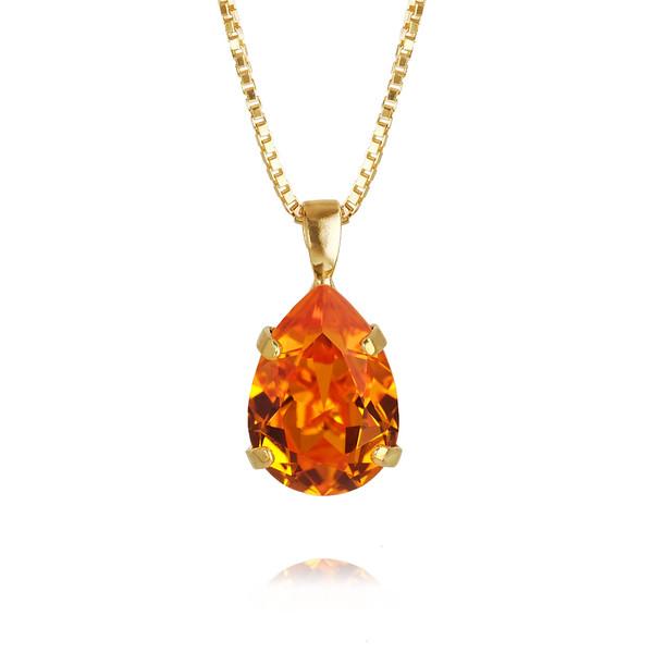 Mini Drop Necklace / Tangerine