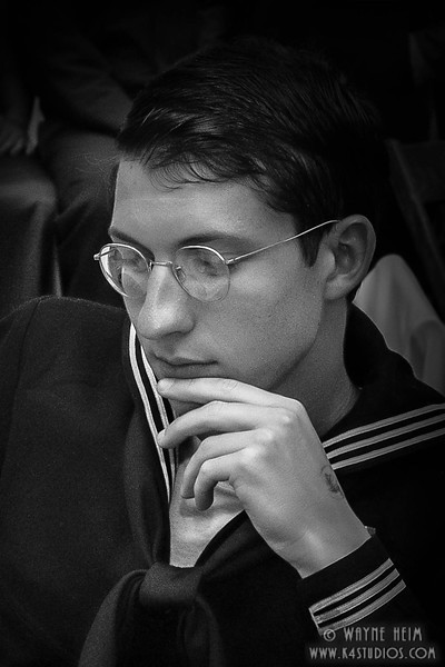 Pensive Sailor      Black and White Photography by Wayne Heim