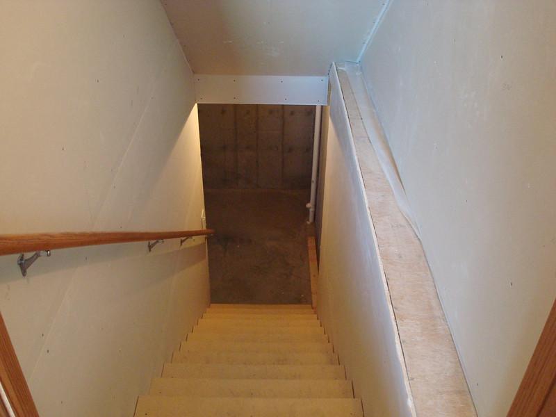 Down basement stairs
