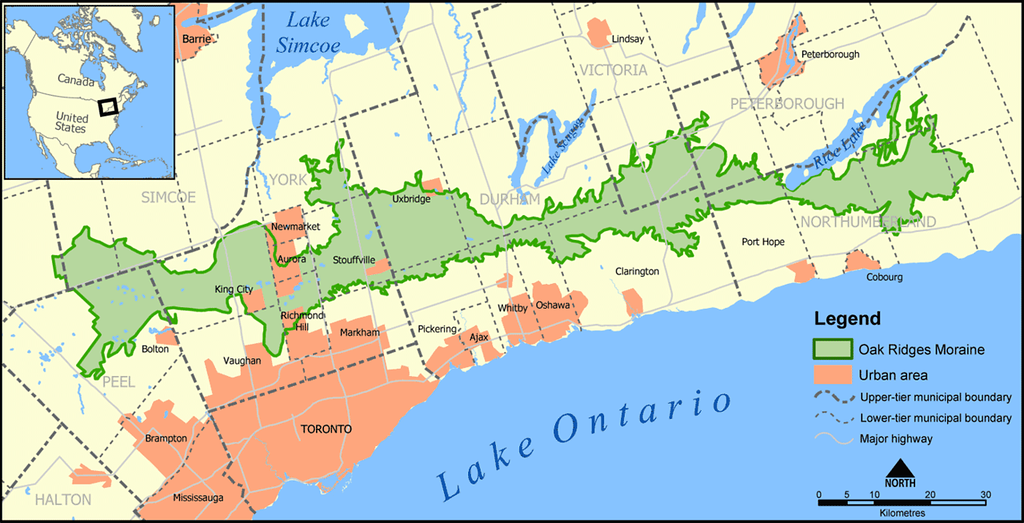 Oak Ridges Moraine - Ontario hiking trails