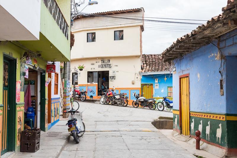 Beautiful coloured streets of Guatape