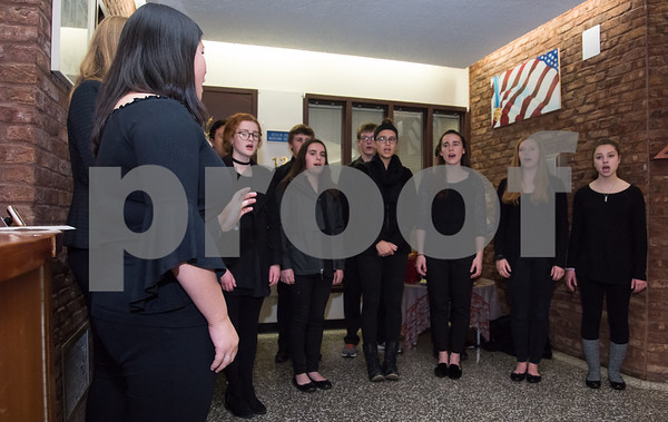 11/21/17 Wesley Bunnell | Staff Berlin held their Swearing-In Ceremony for elected officials at Berlin Town Hall on Tuesday evening. The Berlin High School Madrigal Singers perform My Country Tis of Thee.