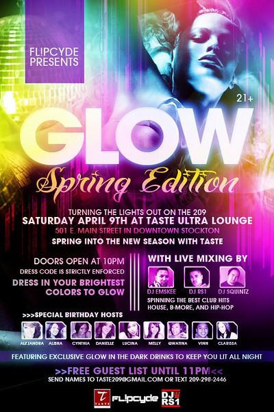 Fl!pcyde Presents GLOW Spring Edition @ TASTE Ultra Lounge 4.9.11