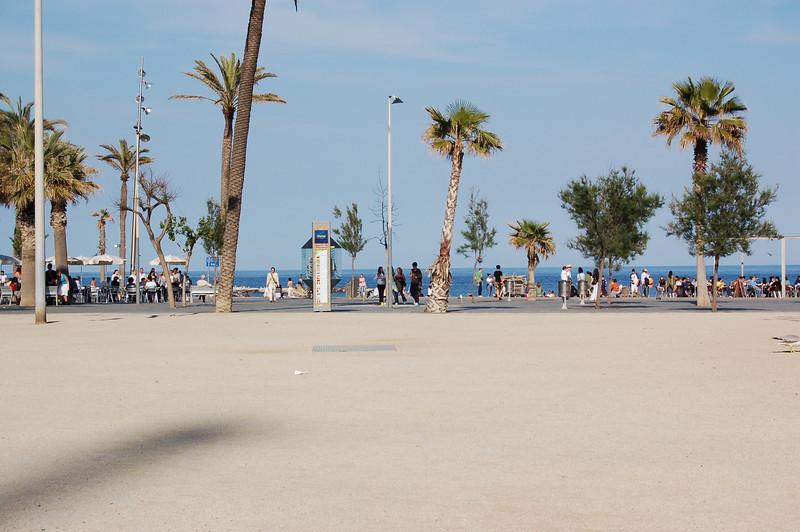 Barceloneta - beach area.  There's the Meditteranean Sea!