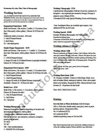 New Price Lists
