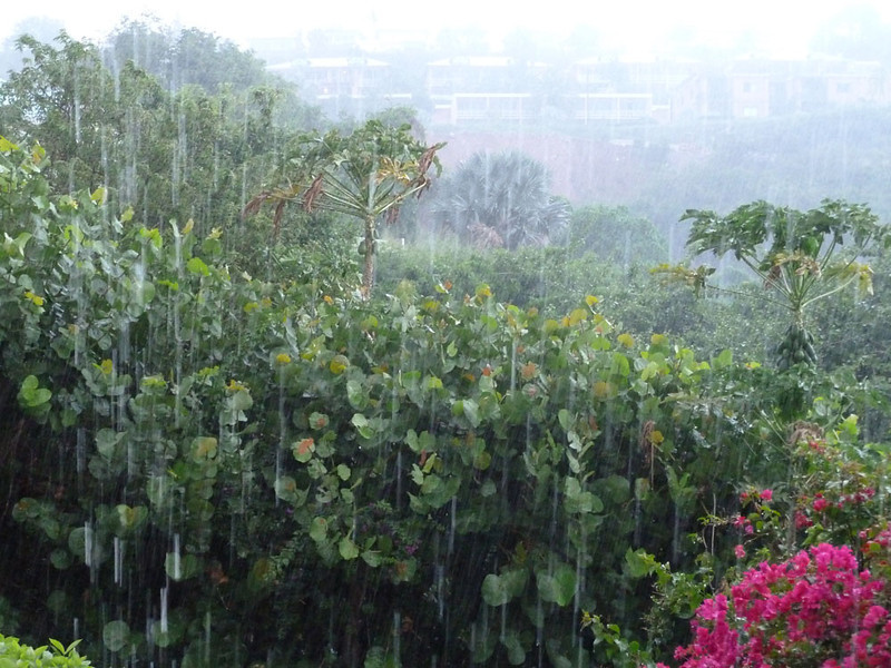 During the wet season (May - Nov) it rains almost daily. It ca be heavy but is usually short. Half an hour later the sun can be blazing and it's hot again. It can make it uncomfortably humid, though.
