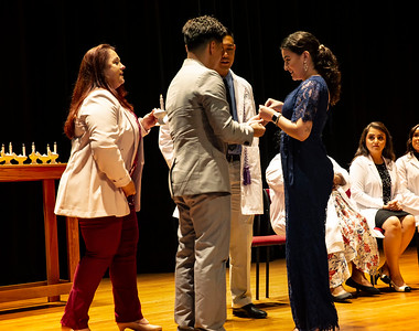 Marc's Pinning Ceremony -Holy Names U 2019