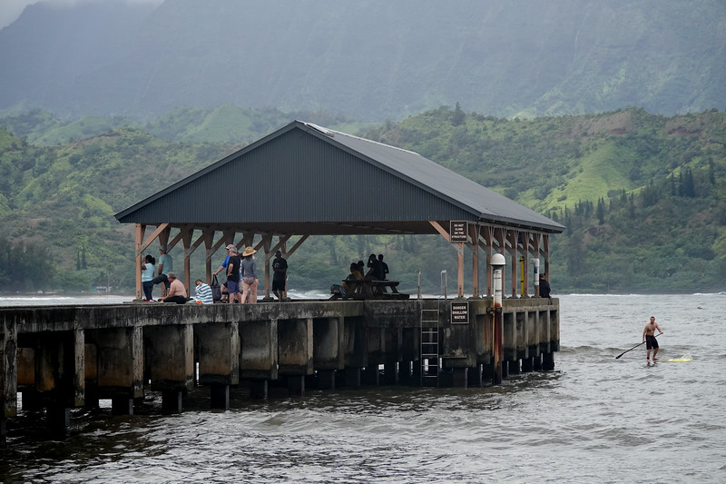 Another look at the historic Hanalei Pier, on the North shore of Kauai