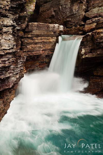 St. Mary Falls, Glacier National Park, Montana (MT), USA