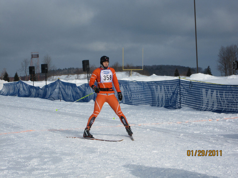 Nikoli Anikin winner of the Men's 51K Freestyle