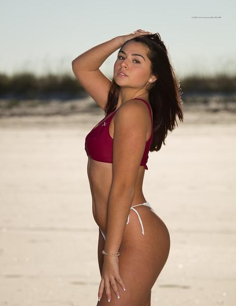 Mistie Kneeling or Standing on Sand