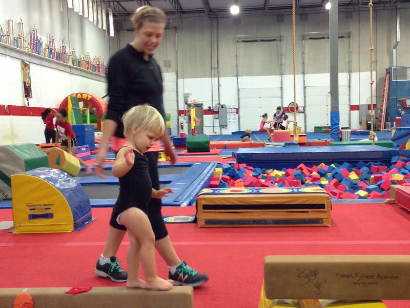 Nora's first day at Dana Minnix Gymnastics.