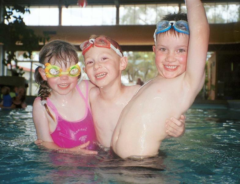 2000 Stefi, Stephen & Angus swim.jpg