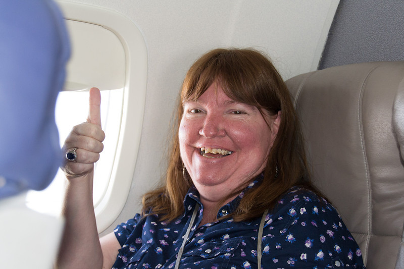 Susie is no longer scared to fly.