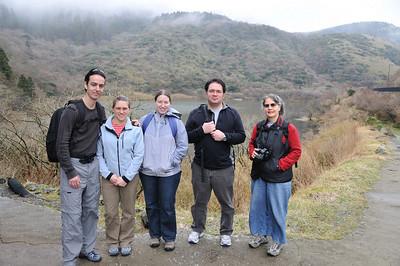 Kento, CIndy, Charlie and Lisa at Old Tokaido:旧東海道
