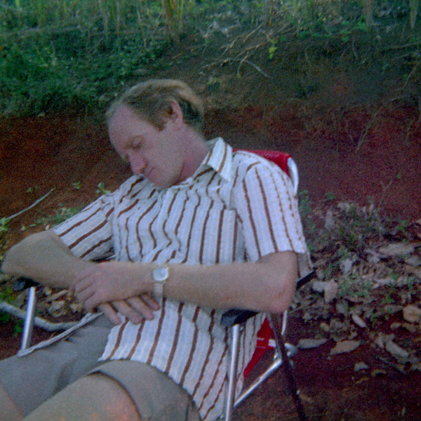 Colin Holmes at McDonalds Corner, Kokoda Trail, Papua New Guinea, 1975.