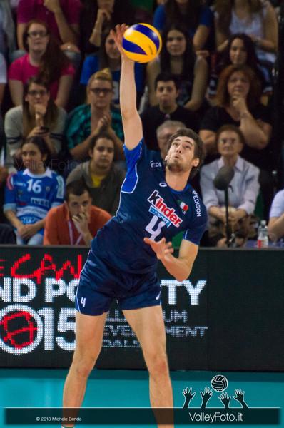 Luca Vettori [ITA] battuta - Italia-Iran, World League 2013 - Modena