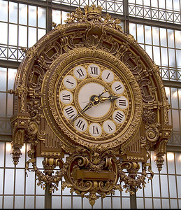 Clock in Musee d'Orsay in Paris, France