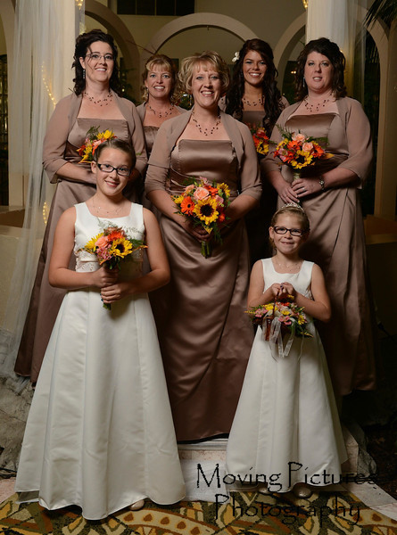 The bridesmaids and flower girl