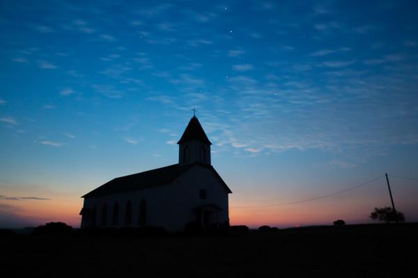 Almost got me a sunset!  Dodson Prairie Catholic Church