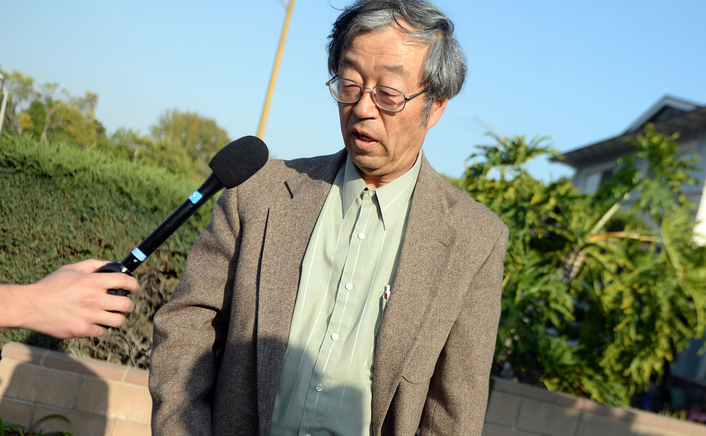 . Dorian Satoshi Nakamoto, 64, who Newsweek identified as the founder of Bitcoin, talks with the media at his home in Temple City, Calif., on Thursday, March 6, 2014. Bitcoin is a virtual currency.