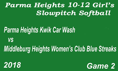 180608 Parma Heights Girl's 10-12 Slow Pitch Softball Game 2