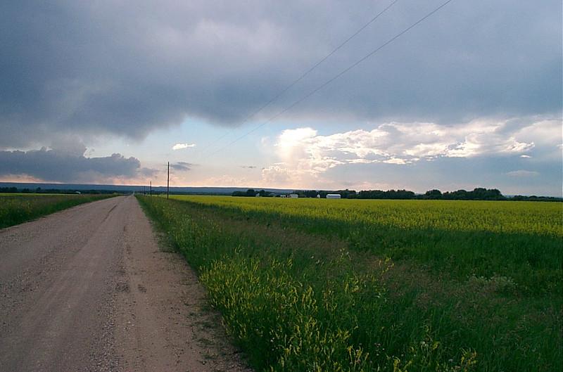 Farm fields & Rain clouds