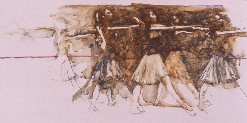 Study for 'Ye All To The Dance House Must Go' (1995)