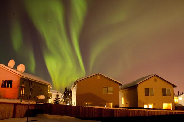 The Aurora Borealis in Anchorage, Alaska