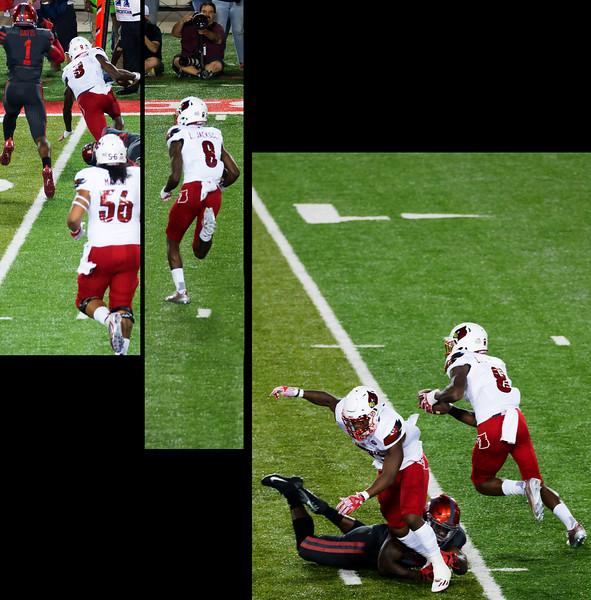 Jackson keeps.  Gains 5 yards.