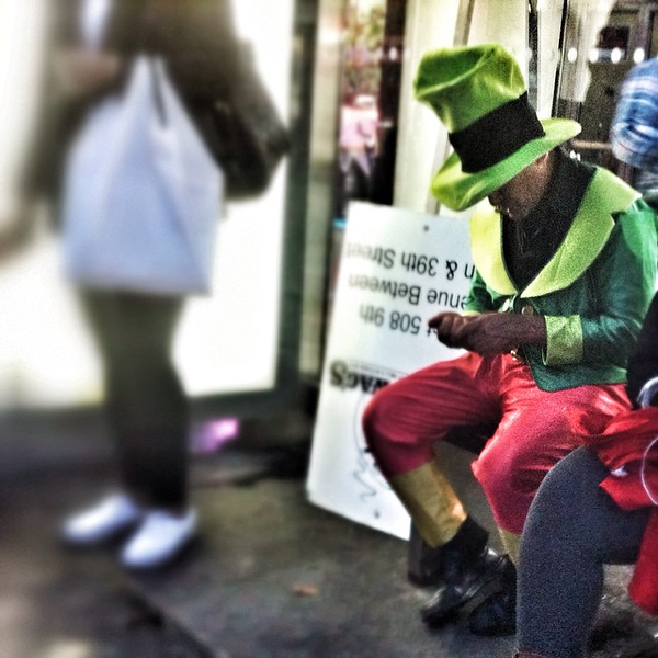Even #leprechauns ride the bus in #NewYorkCity