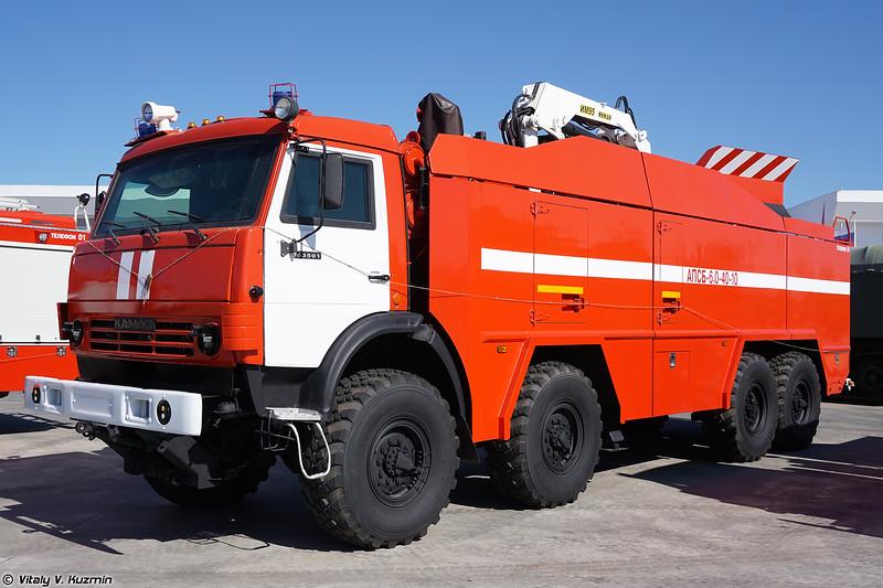 Автомобиль пожарно-спасательный бронированный АПСБ-6,0-40-10 (APSB-6,0-40-10 armored fire engine)